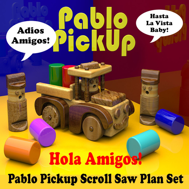Pablo Pickup (PDF Download) Wood Toy Plans