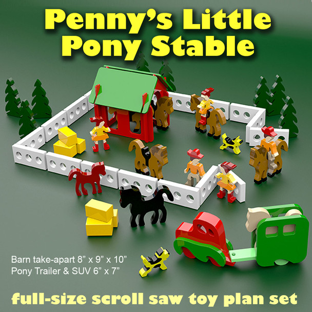 Penny's Little Pony Stable (PDF Download) Wood Toy Plans