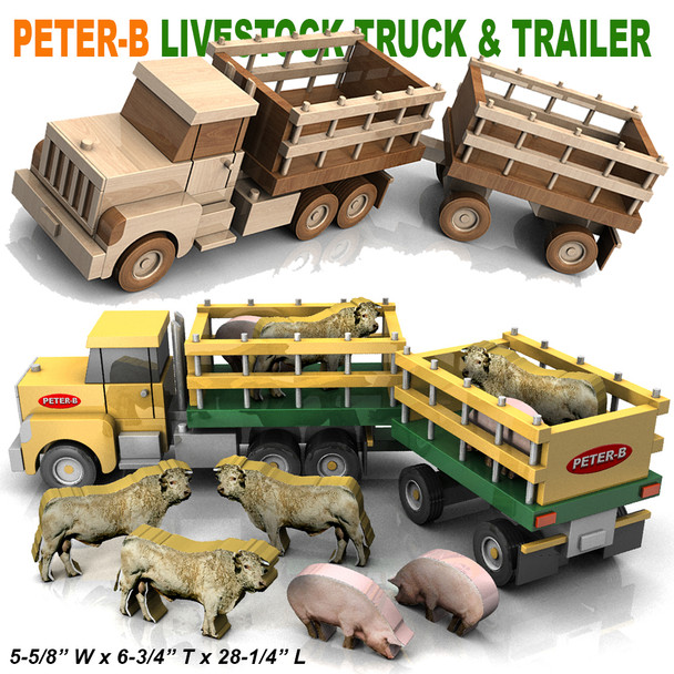Peter-B Livestock Truck and Trailer (PDF Download) Wood Toy Plans