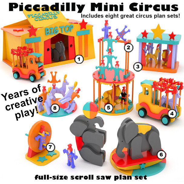 Piccadilly Mini Circus (PDF Download) Wood Toy Plans