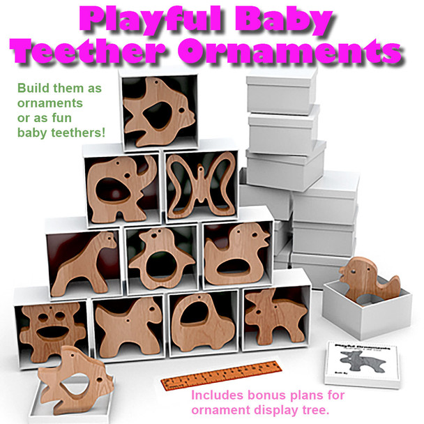 Playful Baby Teether Ornaments (PDF Download) Wood Toy Plans