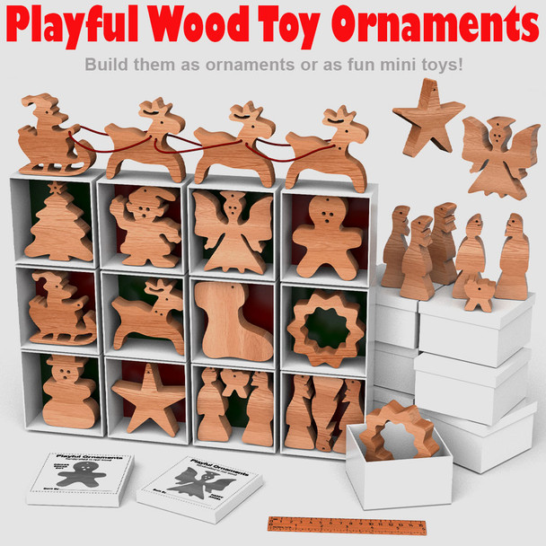 Playful Wood Toy Christmas Ornaments (PDF Download) Wood Toy Plans