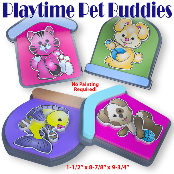 Playtime Pet Buddies Puzzle (PDF Download) Wood Toy Plans