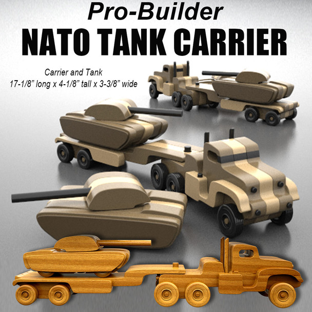 Pro-Builder NATO Tank Carrier (PDF Download) Wood Toy Plans