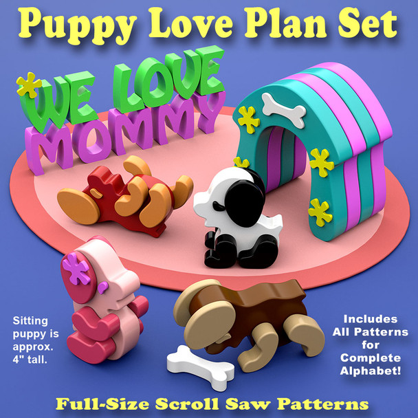Puppy Love (PDF Download) Wood Toy Plans