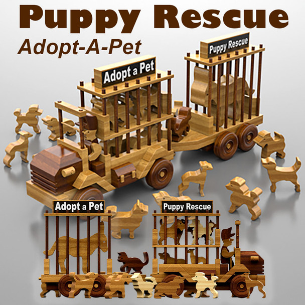 Puppy Rescue Adopt-A-Pet & Animals (PDF Download) Wood Toy Plans