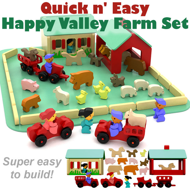 Quick & Easy Happy Valley Farm Set (PDF Download) Wood Toy Plans