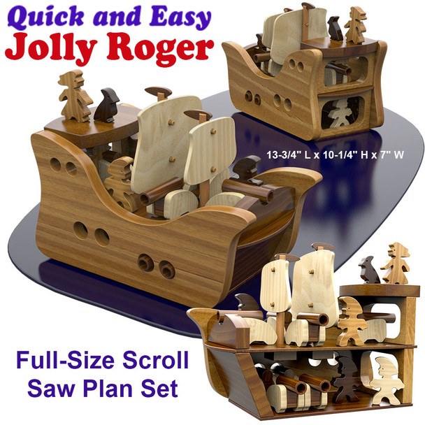 Quick & Easy Jolly Roger (PDF Download) Wood Toy Plans