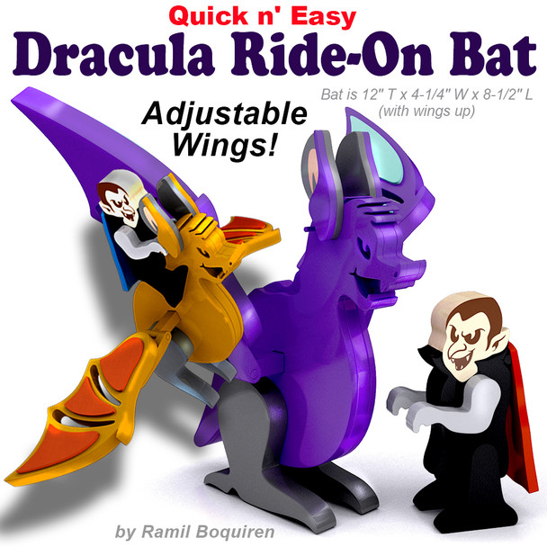 Quick & Easy Dracula Ride-On Bat (PDF Download) Wood Toy Plans