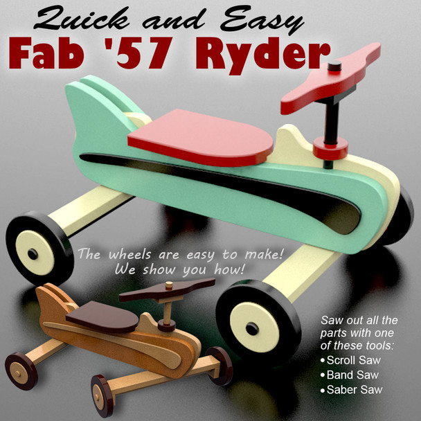 Quick & Easy Fab '57 Ryder (PDF Download) Wood Toy Plans