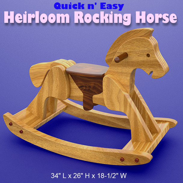 Quick & Easy Heirloom Rocking Horse (PDF Download) Wood Toy Plans