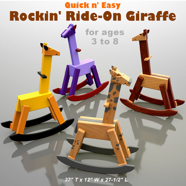 Quick & Easy Rocking Ride-On Giraffe (PDF Download) Wood Toy Plans