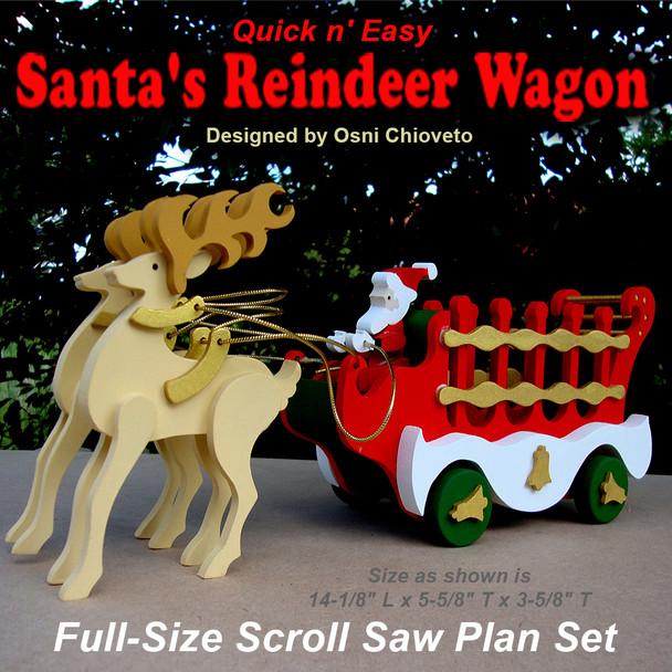 Quick & Easy Santa's Reindeer Wagon (PDF Download) Wood Toy Plans