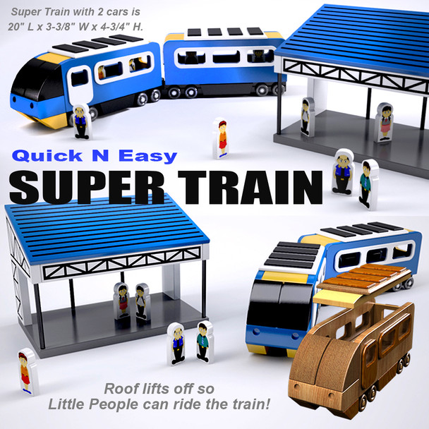 Quick & Easy Super Train (PDF Download) Wood Toy Plans