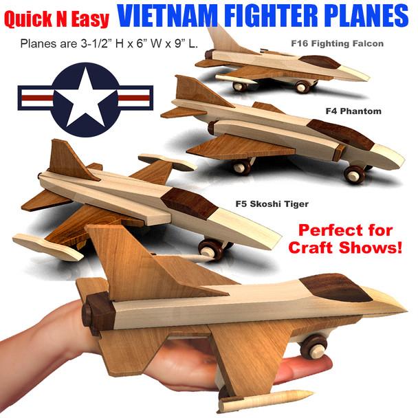 Quick & Easy Vietnam Fighter Planes (3 PDF Downloads) Wood Toy Plans