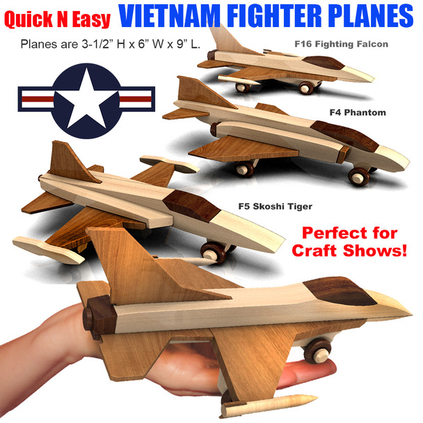 Quick & Easy Vietnam Fighter Planes (3 PDF Downloads) Wood Toy Plans
