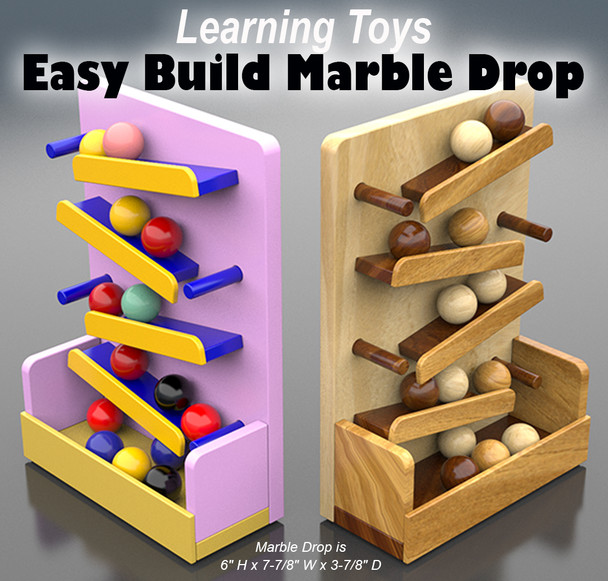 Learning Toys Marble Drop (PDF Download) Wood Toy Plans