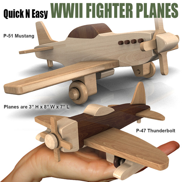 Quick & Easy WWII Fighter Planes (2 PDF Downloads) Wood Toy Plans