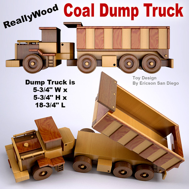 ReallyWood Coal Mine Dump Truck (PDF Download) Wood Toy Plans