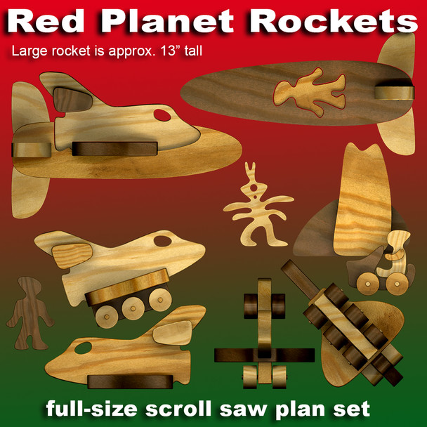Red Planet Rockets (PDF Download) Wood Toy Plans