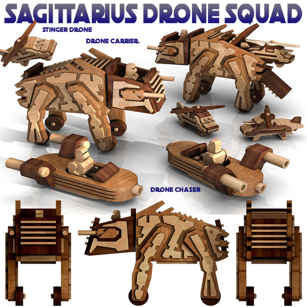 Sagittarius Drone Squad (3 PDF Downloads) Wood Toy Plans