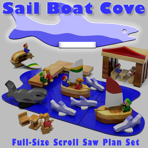 Sailboat Cove (PDF Download) Wood Toy Plans