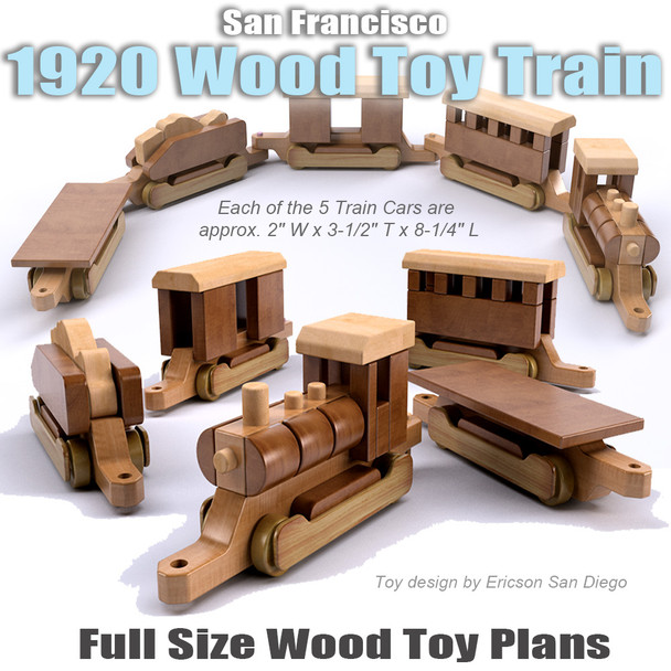 San Francisco 1920 Train (PDF Download) Wood Toy Plans