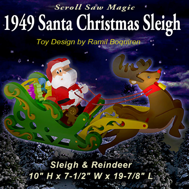 Scroll Saw Magic 1949 Santa Christmas Sleigh (PDF Download) Wood Toy Plans