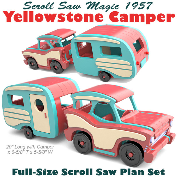 Scroll Saw Magic 1957 Yellowstone Camper (PDF Download) Wood Toy Plans