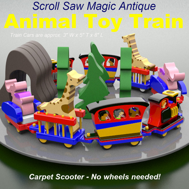 Scroll Saw Magic Antique Animal Train (PDF Download) Wood Toy Plans