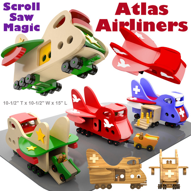 Scroll Saw Magic Atlas Airliners (PDF Download) Wood Toy Plans