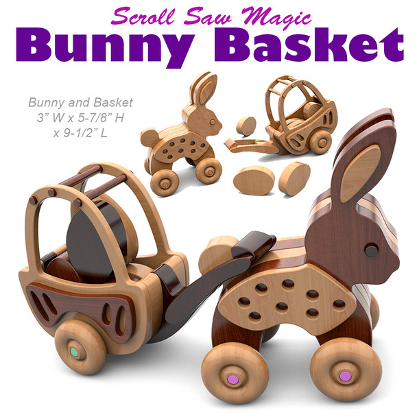 Scroll Saw Magic Bunny Basket (PDF Download) Wood Toy Plans