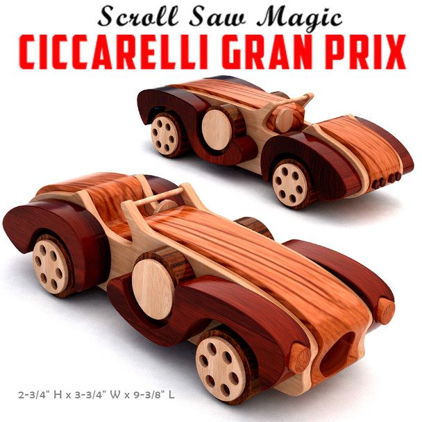 Scroll Saw Magic Ciccarelli Gran Prix (PDF Download) Wood Toy Plans
