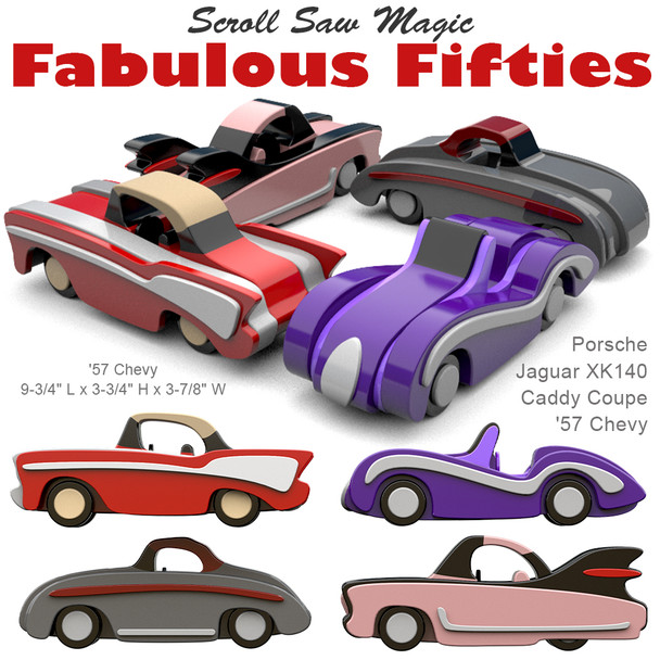 Scroll Saw Magic Fabulous Fifties (PDF Download) Wood Toy Plans