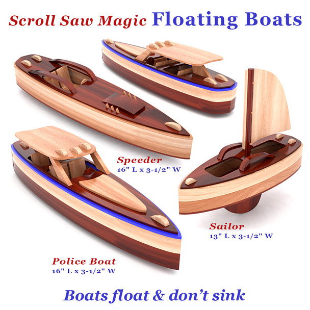 Scroll Saw Magic Floating Boats (PDF Download) Wood Toy Plans