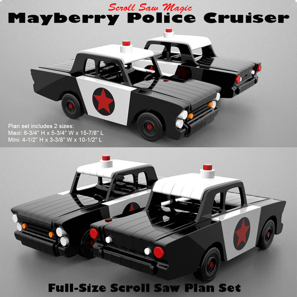 Scroll Saw Magic Mayberry Police Cruiser (PDF Download) Wood Toy Plans