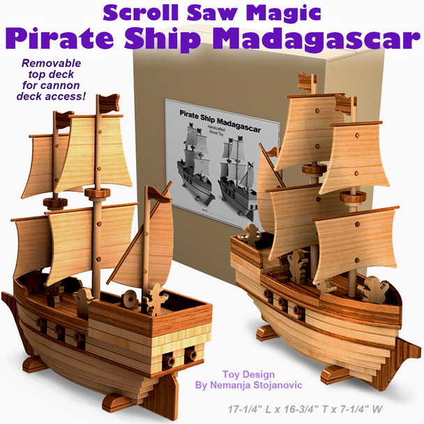 Scroll Saw Magic Pirate Ship Madagascar (PDF Download) Wood Toy Plans