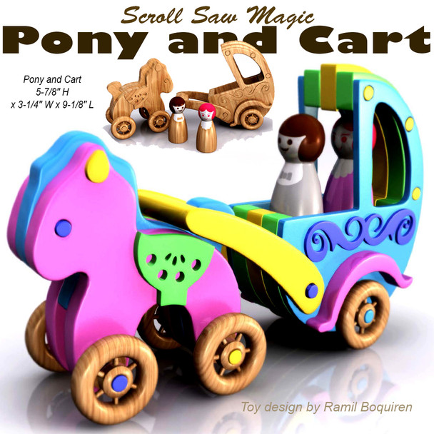 Scroll Saw Magic Pony and Cart (PDF Download) Wood Toy Plans