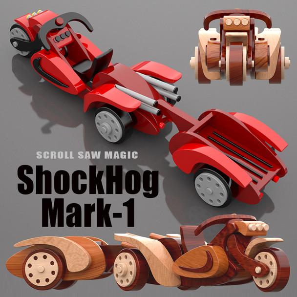 Scroll Saw Magic Shock Hog Mark-1 Wood (PDF Download) Toy Plans