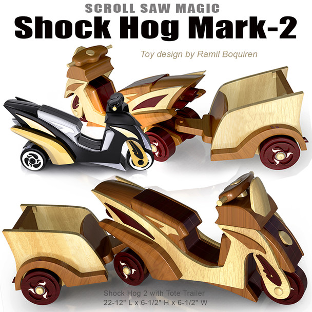 Scroll Saw Magic Shock Hog Mark-2 (PDF Download) Wood Toy Plans