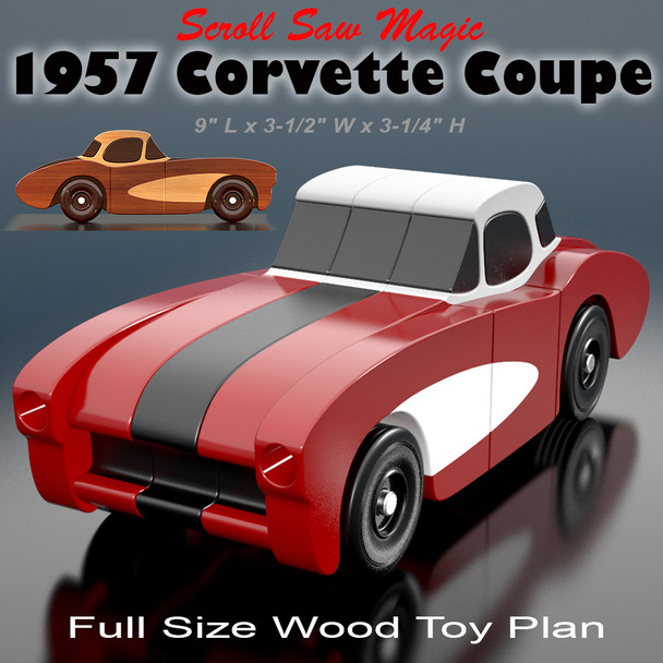 Scroll Saw Magic 1957 Corvette Coupe (PDF Download) Wood Toy Plans