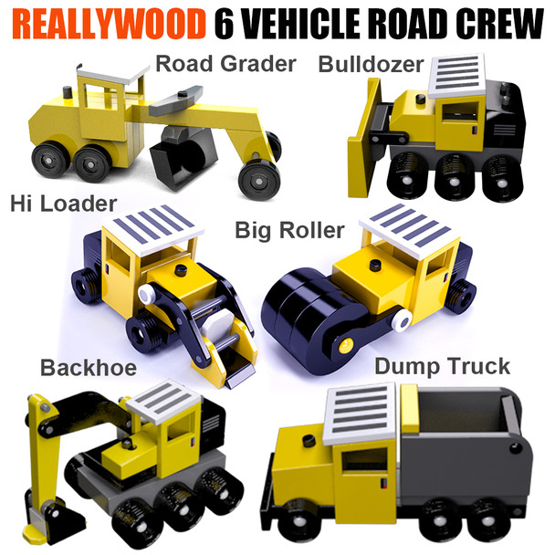 ReallyWood Road Crew Six Construction Trucks (3 PDF Downloads) Wood Toy Plans
