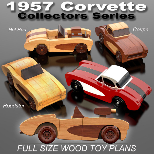 Scroll Saw Magic 1957 Corvette Special Edition (3 PDF Downloads) Wood Toy Plans