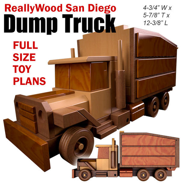 ReallyWood San Diego Dump Truck (PDF Download) Wood Toy Plans