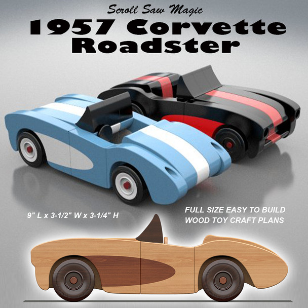Scroll Saw Magic 1957 Corvette Roadster (PDF Download) Wood Toy Plans