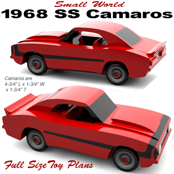 Small World 1968 SS Camaros (PDF Download) Wood Toy Plans