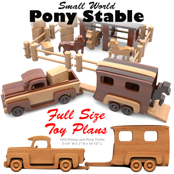 Small World Pony Stable (PDF Download) Wood Toy Plans