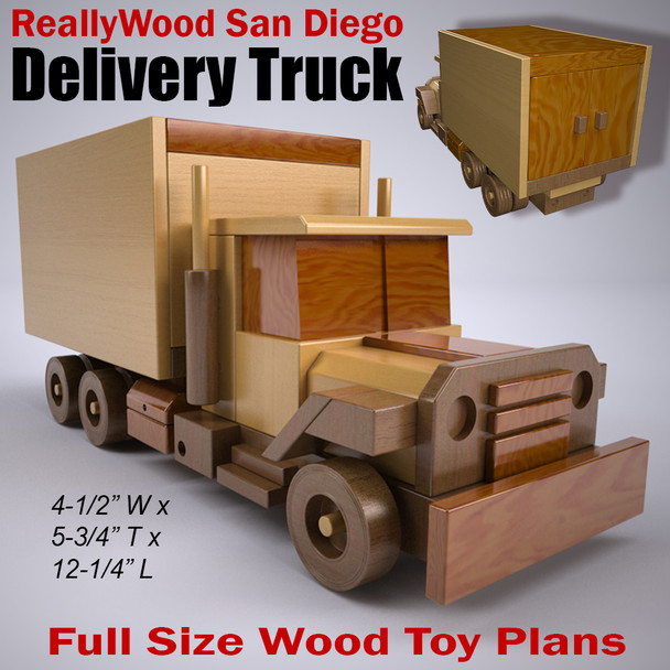 ReallyWood San Diego Delivery Truck (PDF Download) Wood Toy Plans