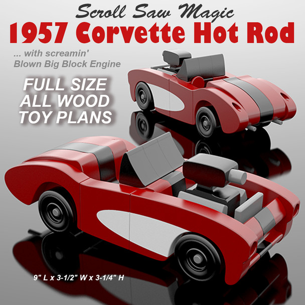 Scroll Saw Magic 1957 Corvette Hot Rod (PDF Download) Wood Toy Plans