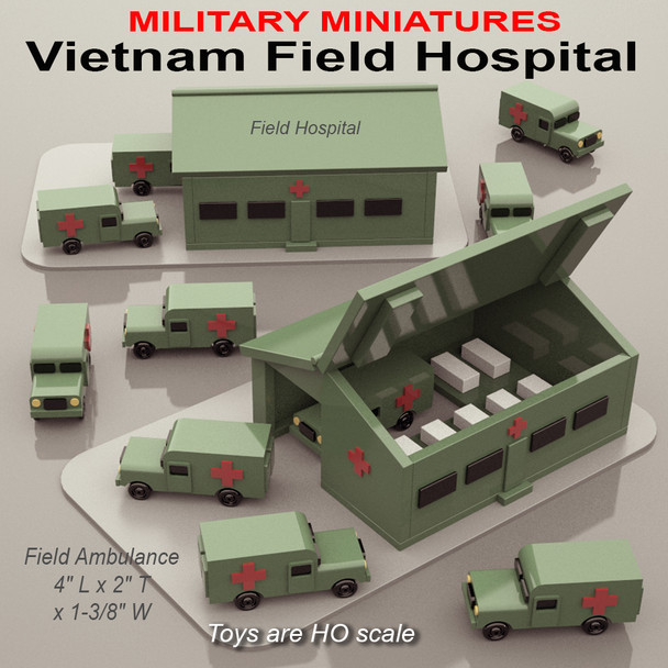 Military Miniatures Vietnam Field Hospital (PDF Download) Wood Toy Plans